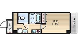 メゾンナカムラ北堀江[8階]の間取り