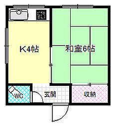 村井ビル[2階]の間取り