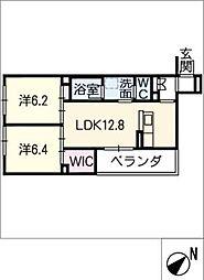 仮)シャーメゾン豊田市吉原町 3階2SLDKの間取り