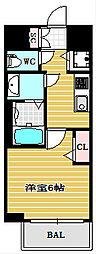 ファステート大阪ドームシティ[4階]の間取り