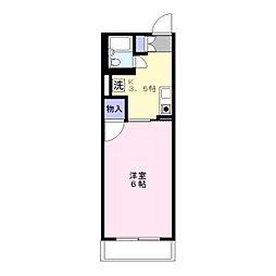 ドミトリー中浦和[1階]の間取り
