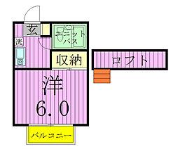 ノーリーズン松戸[205号室]の間取り