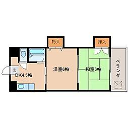 奈良県奈良市三条添川町の賃貸マンションの間取り
