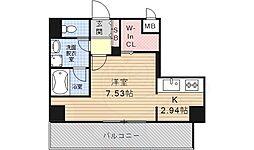 K Smart Kanayama 10階ワンルームの間取り