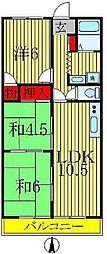 シンシアハイツ柏[4階]の間取り