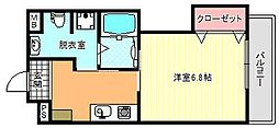 ヴィーブル駒川II[4階]の間取り