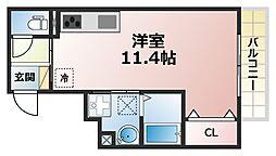 兵庫県神戸市灘区上河原通1丁目の賃貸アパートの間取り