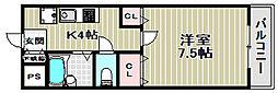 HIYORI 2[4階]の間取り
