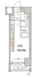 JR山手線 新橋駅 徒歩6分の賃貸マンション 3階ワンルームの間取り