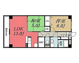 千葉県千葉市若葉区みつわ台2丁目の賃貸マンションの間取り