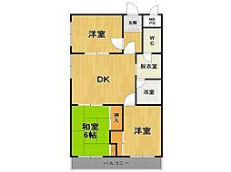 阪本マンション[2階]の間取り