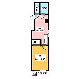 シャトレーゼ[3階]の間取り