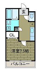CREST SHINYA[3階]の間取り