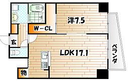 WIN小倉[4階]の間取り