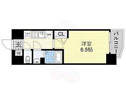 近鉄南大阪線 河堀口駅 徒歩3分の賃貸マンション 2階1Kの間取り