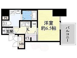 Osaka Metro中央線 本町駅 徒歩3分の賃貸マンション 11階1Kの間取り