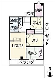 エミール1st[7階]の間取り