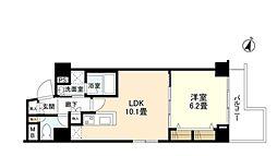 JR総武線 飯田橋駅 徒歩9分の賃貸マンション 3階1LDKの間取り