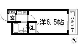 シャトー栄根1[4階]の間取り