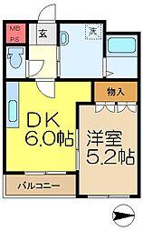 プリムラコート[2階]の間取り
