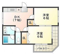 第1ゼルコバマンション[1階]の間取り