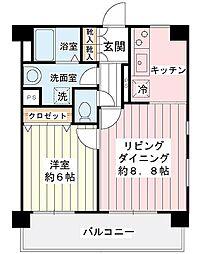 ジュネッタ11[4階]の間取り