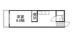 田邉ビル[4階]の間取り