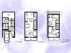 建物参考プラン) 建物価格1,680万円 建物面積62.91m2