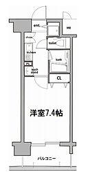 レジュールアッシュ梅田イースト 4階1Kの間取り