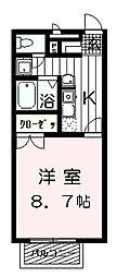 大阪府泉大津市助松町2丁目の賃貸アパートの間取り