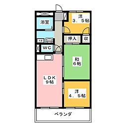 ラコー13[9階]の間取り