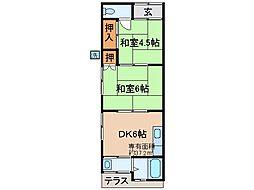 [テラスハウス] 京都府宇治市五ケ庄西浦 の賃貸【/】の間取り