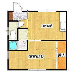 斉藤グリーンマンション1・2[1号室]の間取り