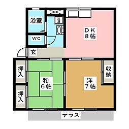 東江曽島ハイツ[1階]の間取り