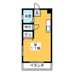 フロリアハウス[3階]の間取り