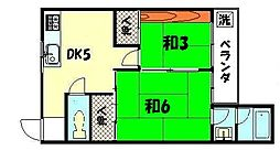 ロイヤルマンション下鴨[101号室]の間取り