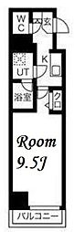 東京メトロ日比谷線 小伝馬町駅 徒歩5分の賃貸マンション 2階1Kの間取り