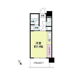 アーデンタワー神戸元町[0507号室]の間取り