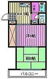 埼玉県川口市上青木西1丁目の賃貸マンションの間取り