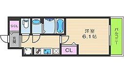 プレサンスTHE TENNOJI 逢坂トゥルー 5階1Kの間取り