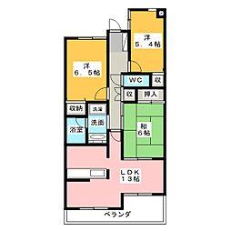 サンマンションアトレ猫ケ洞[3階]の間取り
