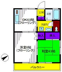 レジデンスA・T・T栄町[1階]の間取り