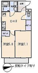 ファミーユコートYS[2階]の間取り