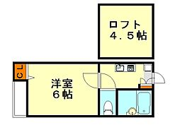 ピュア茶山弐番館[1階]の間取り