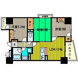 シーズ梅田西[6階]の間取り