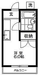 東京都杉並区上井草1丁目の賃貸アパートの間取り