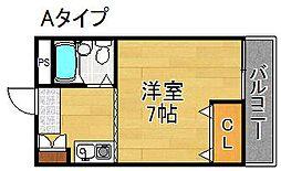 ポアール御崎[2階]の間取り