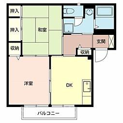ラ・フォーレ深井[2階]の間取り