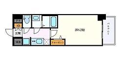 名古屋市営名城線 上前津駅 徒歩7分の賃貸マンション 11階1Kの間取り