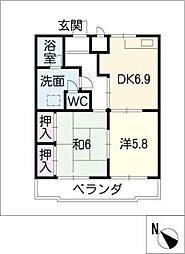 レジデンス横山[5階]の間取り